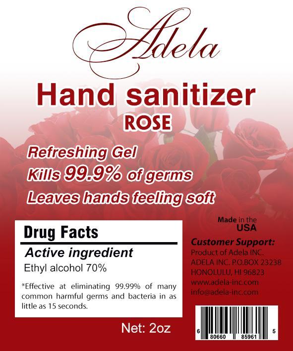Hand Sanitizer-Rose